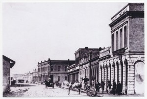 Odd Fellows Hall, Wharf Street, Victoria, 1865