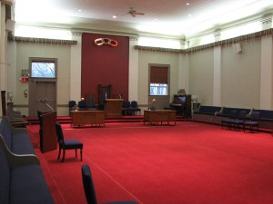 Main Meeting Hall, Fairview Hall, West 8th.